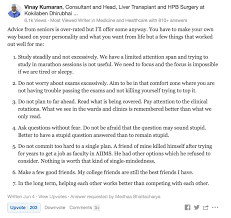 professional q a how healthcare professionals are using quora 5 doctors what is some advice to students going through medical school