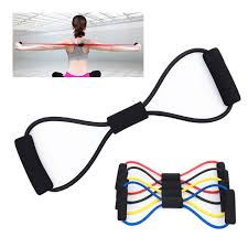 Yoga Band Fitness Resistance Band <b>8 Word Chest Expander</b> Rope ...