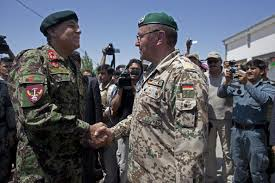 MAZAR-e-SHARIF, AFGHANISTAN - JULY 23: Abdul Rahim Wardak (L), Afghanistan's Defense Minister stands with German Army Maj. Gen. Richard Rossmanith during a ... - Richard%2BRossmanith%2BNATO%2BHands%2BOver%2BControl%2BhBth5heHVXHl