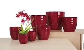 <b>Кашпо</b> 923 <b>Dark Red</b> D25см, керамика. Иван да Дарья - вышивка ...