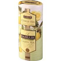 <b>Набор</b> чая Basilur 2 в 1 <b>Зеленый</b> и Цитрусовый листовой 125 г ...