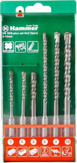 <b>Бур Hammer 201-902 DR</b> SDS+ set No2 (6pcs) 5/6/8 X 110 6/8/10 ...