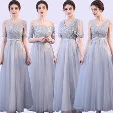 Grey Colour Satin Midi Dress <b>Bridesmaid</b> Dress for <b>Wedding</b> Party ...