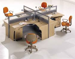 great office furniture great office design for small spaces with four wooden mounted work desk with blue curved office desk dividers