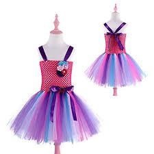 Rainbow Flowers Girls Tulle Tutu Dress Princess ... - Amazon.com