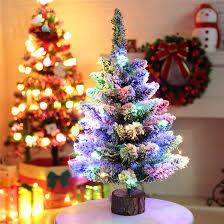 Decorazione Finestre Neve : Pz artificiale floccaggio neve albero di natale led multicolore