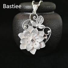<b>Bastiee 999 Sterling</b> Silver Flower Pendant For Women Luxury ...