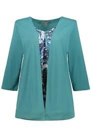 2 in 1 Abstract <b>Leaf Print</b> Stretch <b>Knit</b> Top   T-Shirts   Tops   Ulla ...