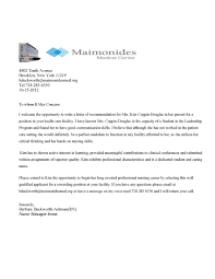 recommendation letter medical doctor templates printable