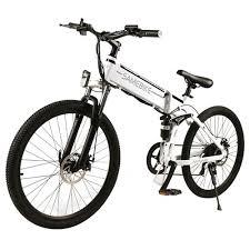<b>Samebike LO26 Smart</b> Folding Electric <b>Moped Bike</b> White