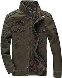 KEFITEVD <b>Men's</b> Winter Fleece <b>Jacket</b> Warm Cargo Stand Collar ...