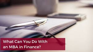 what can you do an mba in finance
