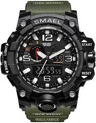 <b>SMAEL men's</b> sports watch outdoor waterproof watch <b>double</b> ...