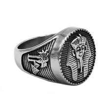 <b>Egyptian Pharaoh</b> Amulet Ring <b>Stainless Steel</b> Ring <b>Egypt Pharaoh</b> ...