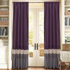Purple Living Room Curtains Interior Design Modern Gray Othello Geometric Currtain Panels For