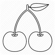 <b>Cherry</b>, dessert, <b>fresh</b>, <b>line</b>, logo, nature, outline icon