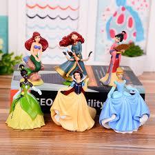 6pcs <b>Anime</b> Cartoon Princess doll <b>Snow White</b> Ariel Cinderella ...