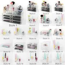 <b>Clear Acrylic Lipstick</b> Jewelry Holder Display <b>Box Cosmetic Makeup</b> ...