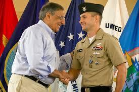 u s department of defense photo essay defense secretary leon e panetta shake the hand of u s navy petty officer 1st class