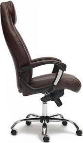 <b>Кресло Tetchair BOSS</b> люкс (хром) (кож/зам, коричневый ...