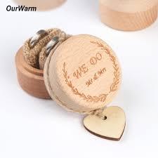 <b>Ourwarm</b> 5x5x4cm <b>Wood</b> Ring Box <b>Wedding</b>/Valentines ...
