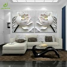 <b>Modular Pictures 3D Art</b> Lotus Flower Poster Living Room Decor HD ...