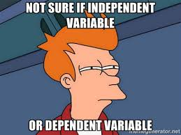 Not sure if independent variable or dependent variable - Futurama ... via Relatably.com