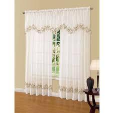 Kitchen Curtains At Walmart Better Homes And Gardens Semi Sheer Window Curtain Walmartcom