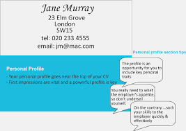 cv uk personal profile   sample resume and objectivescv uk personal profile writing a personal profile for your cv jobsacuk good cv and remember