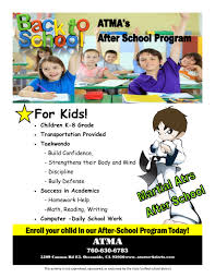 ATMA  After School Program   Other   school   Peachjar Click the flyer below to view all pages