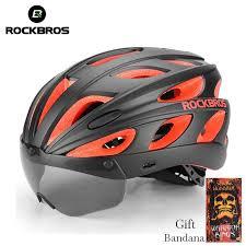 <b>ROCKBROS Goggles Bicycle Helmets</b> Integrally-molded Ultralight ...