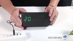 Cool <b>Wooden</b> Desk Alarm Clock / Temperature Display -- DX.COM ...