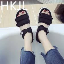 <b>HKJL</b> 2019 summer new women's <b>shoes</b> outdoor casual platform flat ...