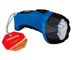 <b>Фонарь аккумуляторный светодиодный Рекорд</b> РМ 0104 синий ...