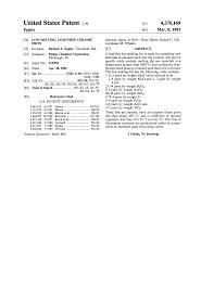 Morgan Thermal Ceramics Patent Us4376169 Low Melting Lead Free Ceramic Frits Google