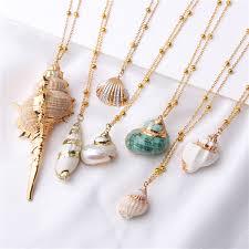 <b>Boho</b> Conch Shells <b>Necklace</b> Sea <b>Beach</b> Shell Pendant <b>Necklace</b> ...