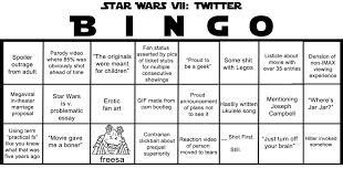 make the next few days bearable by playing star wars bingo the make the next few days bearable by playing star wars bingo the poke