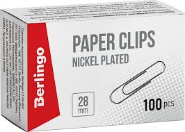 <b>Berlingo Скрепки</b> никелированные 28 мм <b>100 шт</b> BK2511 ...