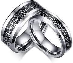 Sunrise100 <b>6mm</b> and <b>8mm Lovers</b> Tungsten Ring Engagement ...