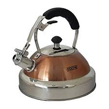 Voche® Copper <b>Stainless Steel Whistling Kettle</b> with Colour ...