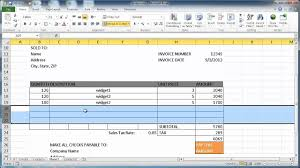 3 ways to make an invoice on excel wikihow