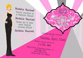 printable birthday invitations for tweens drevio catwalk printable birthday invitations for tweens