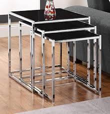 #Check Price Kale <b>3</b> Pc Glass <b>Nesting Tables Set</b> - AlexShops-four
