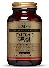 Double Strength <b>Omega</b>-<b>3 700</b> mg Softgels - <b>Solgar</b>