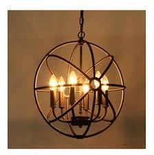 Loft American style <b>retro nordic vintage Pendant</b> lamp <b>iron</b> industrial ...