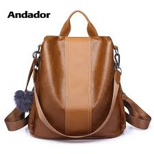 New fashion lady bag anti theft <b>women backpack 2019</b> hight quality ...