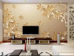 Golden snowflakes <b>3D room wallpaper</b> beautiful <b>bedroom wallpaper</b> ...