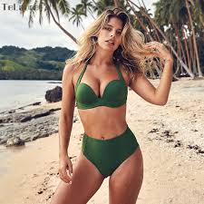 TeLaura <b>Sexy</b> High Waist <b>Bikini</b> Set <b>Swimwear</b> Women <b>Swimsuit</b> ...