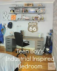 teen boys bedrooms going to add stripes and stars to the plaid teen boyu0027s room industrial shelving