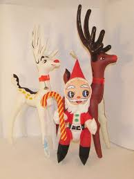 inflatable christmas nn  ideal toy corp vintage christmas inflatables rudolph clarice santa re